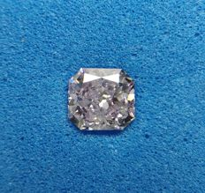 0.45 ct Radiant cut diamond Fancy Purple Pink