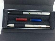 2 Lamy ballpoint pens 1 Accent multicoloured pen 1 steel pen with highlighter function