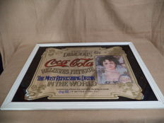 Big Old Coca Cola Mirror in frame - 1960's