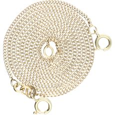 14 kt - Yellow gold curb link necklace - length: 57 cm