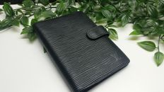 Louis Vuitton Taiga agenda PM Ardoise Leather Black Notebook