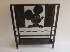 Umbrella holder in wrought iron - decoration of Mickey Mouse - circa 1970