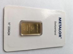 ingot in gold 5 g Metalor