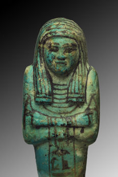 Ancient Egyptian faience shabti for Tamutneferet - 15 cm