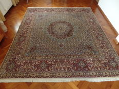 Persian Moud carpet with silk, approx. 262 x 245 cm