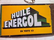 Energol enamelled sign