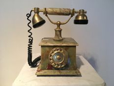 Decorative marble phone. second half of the 20th century