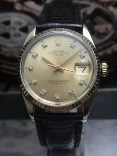 1979 Rolex Automatic - Oyster Perpetual Date - 1505 - Gold Top - Men's Watch