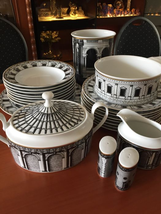 complete rosenthal fornasetti tableware dekor palladiana 32 pieces catawiki
