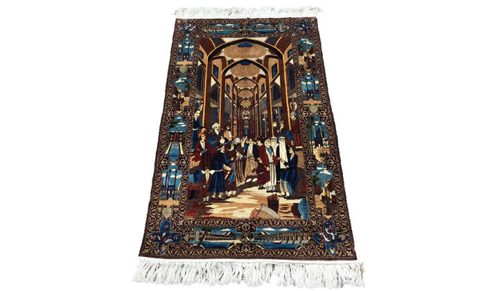 **Unique Piece** Splendid Illustrated Persian Carpet - Extra Finely Knotted 100% Silk!!!!!!  - 90 x 152 cm -