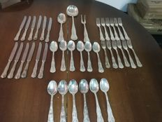 Full cutlery set for 12 - vintage - 800 silver plated