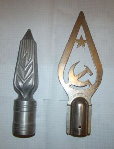 Soviet Russia, 2 Metal Flag Tops