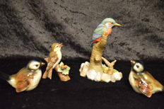 4 Goebel Porcelain Birds