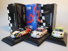Minichamps - Scale 1/43 - Lot with 3 x Porsche 911 GT3 2006