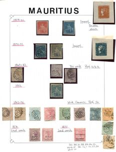Mauritius 1858/1995 - collection on 80 album leaves.