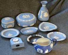 Collection of 10 Wedgewood Jasperware objects