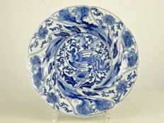 Fine porcelain phoenix and monkey plate - China - Kangxi period (1662-1722)