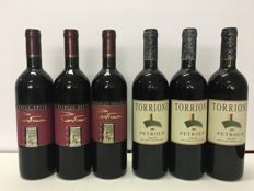 2000 Michele Satta Piastraia Bolgheri Superiore x 3 bottles - 2002 Fattoria Petrolo Torrione Toscana IGT, Tuscany, Italy x 3 bottles /  6 Bottles 75cl in total