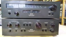 Akai AM 2350 amplifier and AT 2250 tuner in nice condition