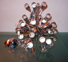 Unkown designer - Chandelier SPUTNIK glass and metal vintage 60s