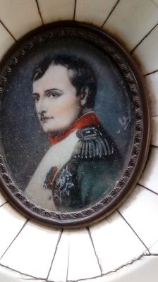 19th century France - Napoleon and Josephine in ivory