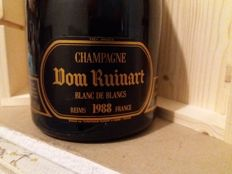 1988 Dom Ruinart Blanc de Blancs Millesime Brut, Champagne - 1 bottle (75cl) with wood box