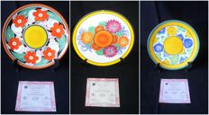 Wedgwood / Clarice Cliff - A Zest of colour, 3 porcelain plates - limited and numbered edition