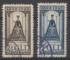 Netherlands 1923 - Anniversary of the Reign - NVPH 130 + 131
