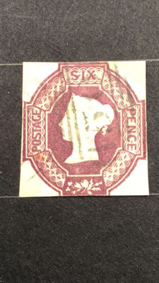 Great Britain, Queen Victoria, 1854 Embossed Issue- Stanley Gibbons 58, 6d Mauve.