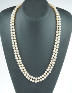 Long baroque freshwater pearl necklace - endless model - 125 cm