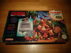 "Snes Console Pack ""Donkey Kong Country Edition"" Fully Complete, Extremely Rare SCN Version"