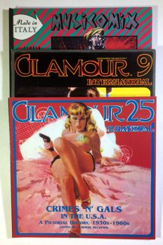 Glamour, issues nos. 9/1987 and 25/1998 + Musicomix, in French, 1984