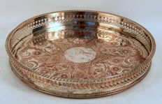 Antique Victorian Silver Plate Tray, By Viners LTD, Sheffield C.1880