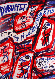 Dubuffet/Chillida/Monory/Magnelli-Exhibition posters-1981-1990