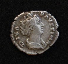 Roman Empire – Faustina Major, AR Denarius – 147 – 161 AD