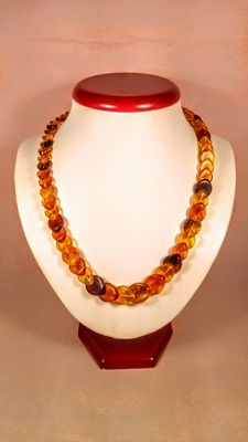 Vintage 100% Genuine Baltic Amber necklace, 27 grams
