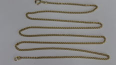 Necklace for men in 18 kt / 750 gold, curbed model