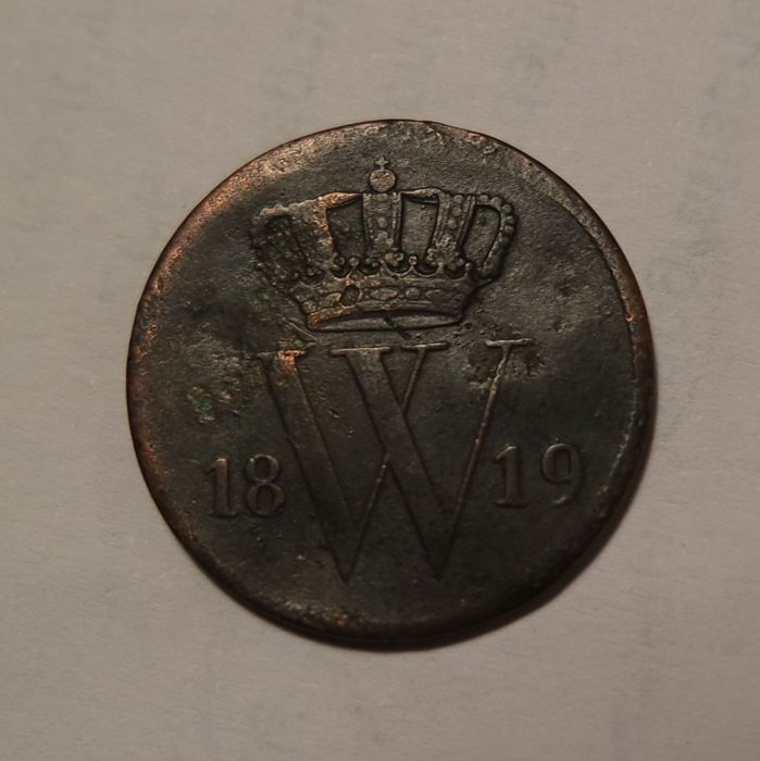 The Netherlands - 1 cent 1819 , Willem I - copper
