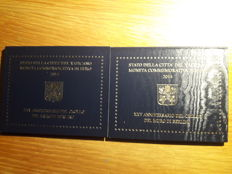 Vatican - 2 Euro 2014 '25th anniversary fall Berlin Wall' (2 sets) in blister