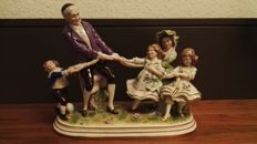 "Scheibe-Alsbach Porcelain Figurine ""Father with 4 children"""