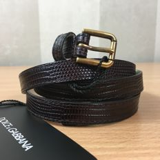 Dolce & Gabbana – Brown Leather Belt