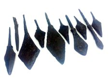 Medieval iron arrowheads - 47-94 mm (10)