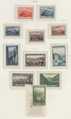 Luxembourg 1921/1939 - Selection between Michel 134 and block 3 on album sheets