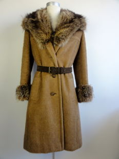 Desarbre - Coat - Beaver fur collar - With belt