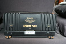 Scharp 7700, solid and powerful amplifier since the 80s