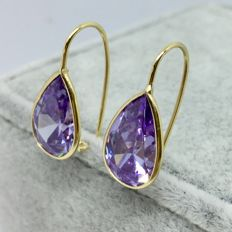18kt Yellow Gold Tear Drop Earrings-2.9gs