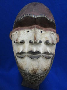 Mask with three faces - BAKONGO - D.R Congo