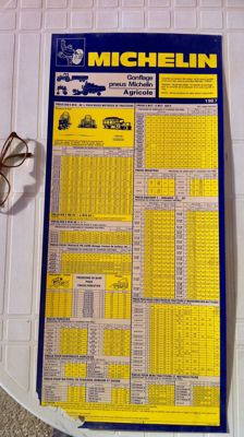 Michelin - Lot including inflation pressure chart and 93 maps of France