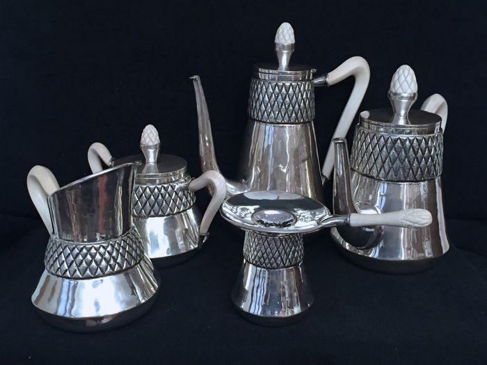 MartignettiTea/Coffee set - Milan - early 20th century