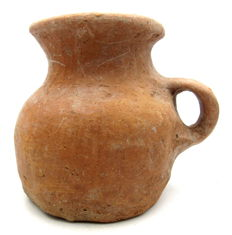 European Bronze Age Jug with Handle - 145 x 120mm